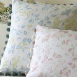 Apple Blossom pink cushion