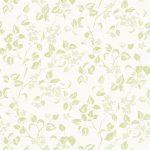 Apple blossom green fabric