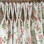 Birds in Blossom pinch pleats