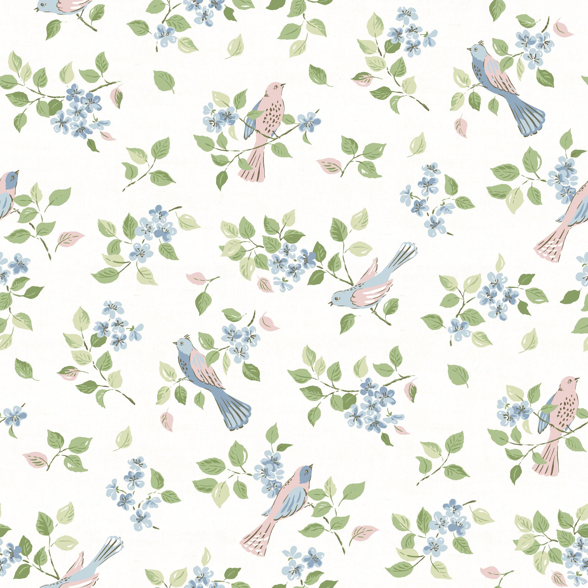 Birds in Blossom Sky
