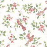 Birds in Blossom Pink