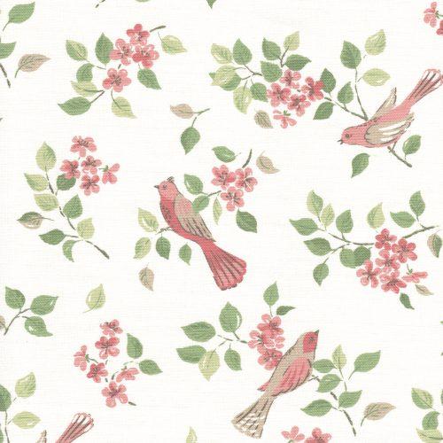 Birds in Blossom Pink sample