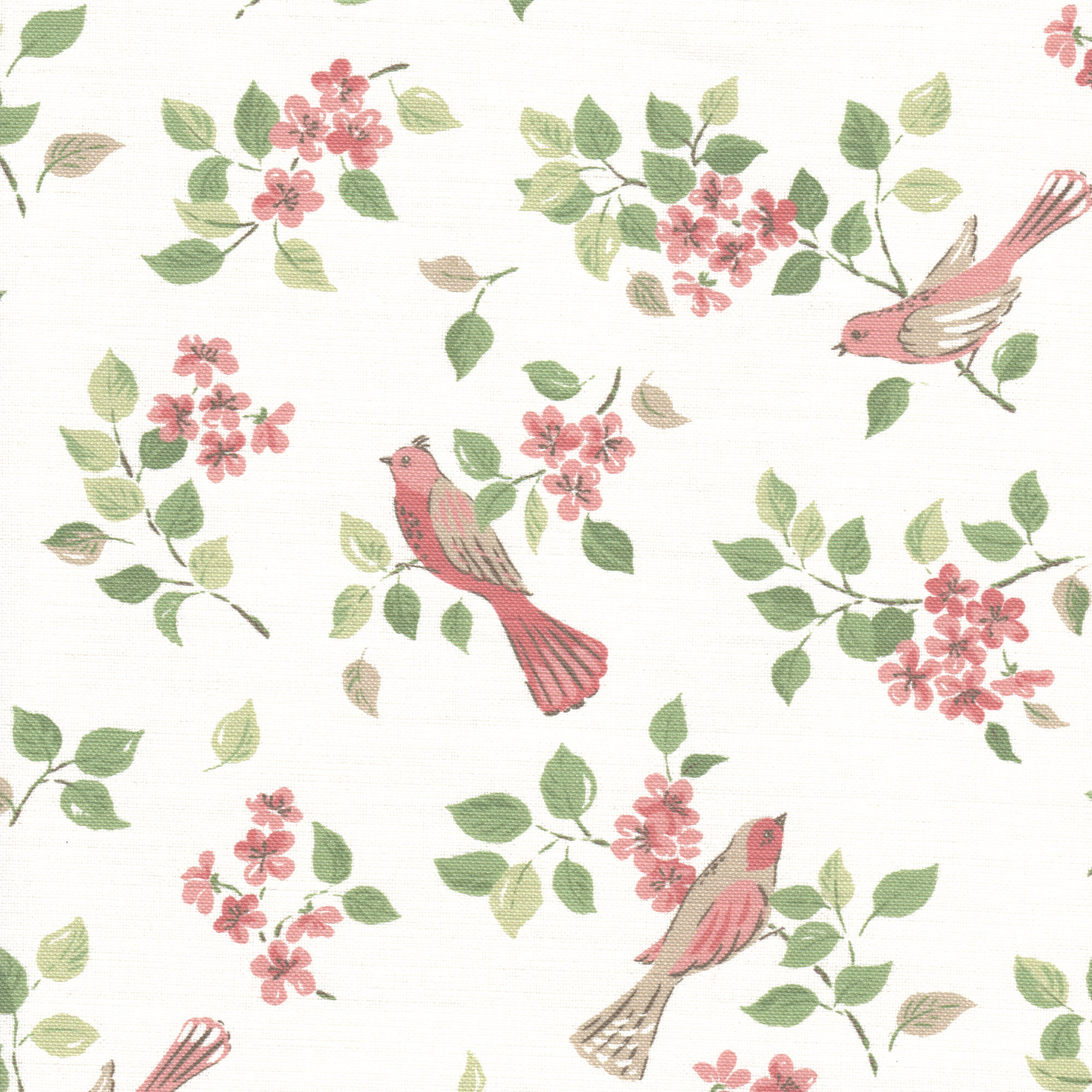 Birds in Blossom Pink sample