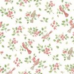 Birds in Blossom pink repeat