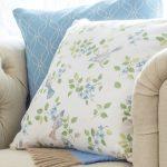 Birds in Blossom sky cushion