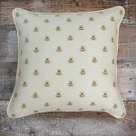 Busy Bee dove piped cushion