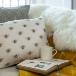 Busy Bee natural cushion