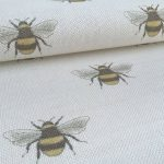 Busy-Bee-natural-white-square-fabric
