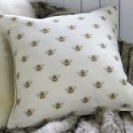 Busy Bee piped cushion