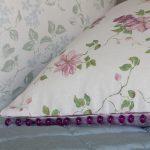 Clematis pink plum cushion detail