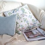 Mollie & Birds in Blossom sky cushions