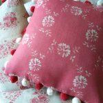 Daisy Chain rasperry cushion