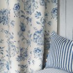 Elise French Blue with Luca stripe cushion