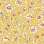 Honeysuckle saffron fabric