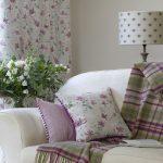 Honeysuckle soft stone curtain and cushion