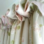 Hydrangea soft dove curtain detail
