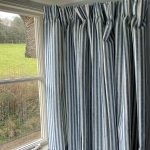 Luca Stripe French blue curtain