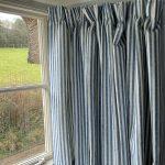 Luca Stripe French blue curtain
