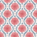 Laceflower faded red oyster fabric
