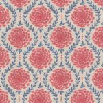 Laceflower faded red stone fabric