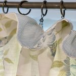 Cottage pleat detail with Pinstripe sky