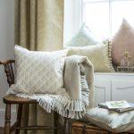 Meadow Grass caramel curtain