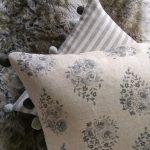Rose Drop storm sky cushion