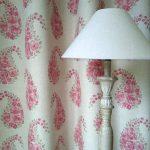 Paisley Rose raspberry curtain