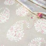 Paisley Rose Pebble fabric