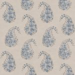 Paisley Rose country blue