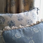 Paisley rose curtain with cushions