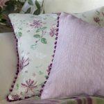 Pinstripe plum cushion detail