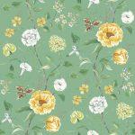 Summer Garden mineral green fabric