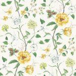 Summer Garden saffron fabric