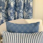 Wisteria French Blue and coordinating cushions