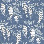 Wisteria French blue fabric