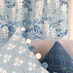 Wisteria smoke blue with cushions