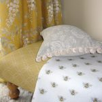 Mollie saffron footstool