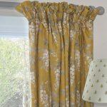 Wisteria saffron curtain
