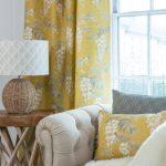 Wisteria Warm Saffron curtain
