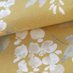 Wisteria-saffron-square-fabric